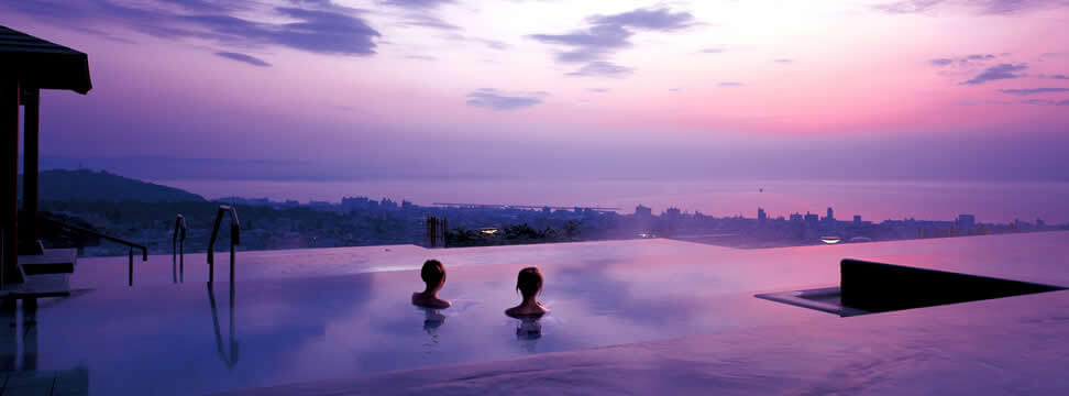 絶景露天風呂<br>のある温泉宿